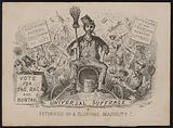 Anti universal suffrage cartoon in the lead up to the 1867 Reform Act
