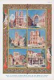 Scenes of coronations of British monarchs through history