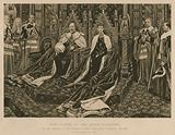 King Edward VII and Queen Alexandra at the State Opening of Parliament, Westminster, London, 14 February 1901