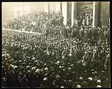 Huge London crowd, possibly in connection with coronation of King Edward VII