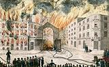 Front View of the Great Fire of 1861