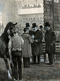 King Edward VII at the Hackney Horse Show Presenting the Cup