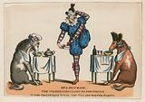Mr John Ducrow, the celebrated clown to the circle in the grotesque scene, the tea and supper party