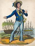 T P Cooke as the sailor hero of Black Eyed Susan