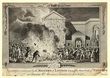 Devastations occasioned by the Rioters of London firing of the New Gaol of Newgate and burning …