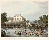 Arrival at Brandebburgh House of the Watermen etc with an address to the Queen, 3 October 1820