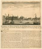 Exact View of London Bridge since the conflagration of the late temporary bridge, 11 April 1758