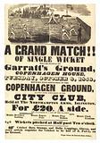 Cricket match, 6 October 1846