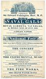 Vauxhall Gardens, Grand Naval Gala, Admiral Sir Edward Codrington