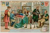 A Weaver, Tailor, Hatter and Braid Maker Give Their Orders to a Dyer