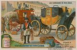 English stagecoach and Post from the 18th century