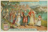 The marriage of King Arthur and Queen Guinevere