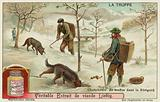 Truffle hunters in Perigord in France