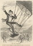 Up in a balloon; An Irish aeronaut makes an ascent in a state of intoxication