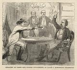 Cheating at cards and sudden punishment on board a Mississippi steamboat