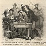 The Assassination of President Lincoln; The conspiritors in council