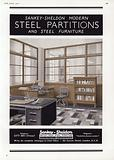 Advertisement for Sankey-Sheldon Steel Partitions, 1937