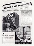 Advertisement for Philips X-Ray Shoe Fitter, 1930s