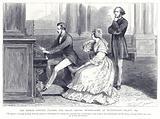 The Prince Consort playing the Organ before Mendelssohn at Buckingham Palace, 1842