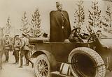 Russian troops in Teheran, capital of Persia, showing the Grand Duke Nicholas, early 1916