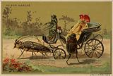 Au Bon Marche cards featuring anthropomorphic insects