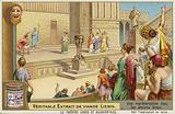 Liebig card featuring a representation of ancient Greek theatre