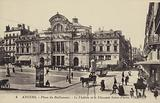 Place du Ralliement, the theatre and the Chaussee Saint-Pierre, Angers, France