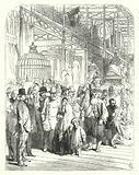Exhibitors and visitors in the Crystal Palace, Hyde Park, London, venue of the Great Exhibition of 1851