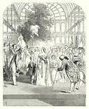 Queen Victoria and her children visiting the Great Exhibition of 1851, Crystal Palace, Hyde Park, London