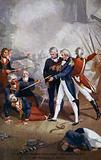 The wounded Spanish Commodore surrendering the San Nicolas to Nelson