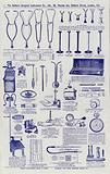Page from Surgical instrument catalogue, c 1900: Stethoscopes