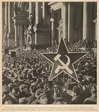 Mass communist demonstration outside the old Imperial Palace, Berlin, Germany, 1922