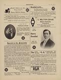 Advertisements for magicians, including Harry Houdini