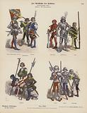 Swiss military costumes of the 15th Century