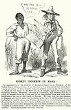Punch cartoon: reaction in the South to the election of Abraham Lincoln as President of the United States