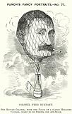 Punch cartoon: Frederick Burnaby, British Army intelligence officer and balloonist
