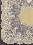 Handkerchief of Brussels lace, presented with other lace fabrics by the King of the Belgians