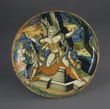 Shallow bowl on low foot with the death of Laocoön and his two sons