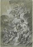 Venus appuyee sur son cher Adonis …