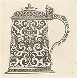 Large jug, the handle formed by a snake