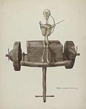 Penetente Death Cart & Death Figure