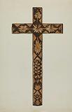 Straw Inlay Cross