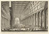 Spaccato interno della Basilica di S Paolo fuori delle Mura
