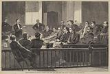Jurors Listening to Counsel, Supreme Court, New City Hall, New York