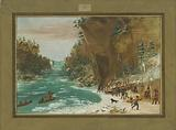 The Expedition Encamped below the Falls of Niagara. January 20, 1679.