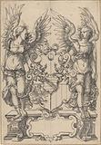 Two Angels Holding a Coat of Arms