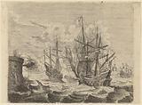 Heemskerck's Victory Over the Spanish Fleet at Gibraltar