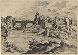 View of the Ponte Quattro Capi and the Island of the Tiber