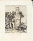 Arco della Toretta o sia parte dell'acqua Claudia, agli Arci vicino a Tivoli