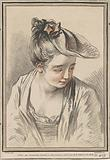 Head of a Young Woman Wearing a Hat